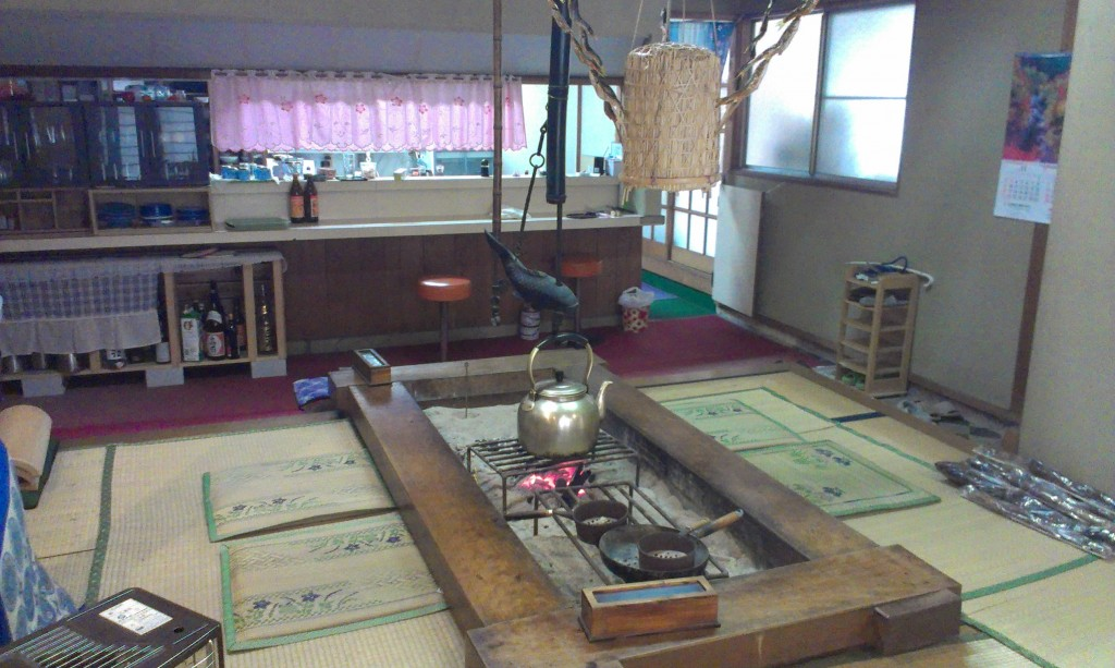 Dining room at rustic onsen in Chiba Prefecture. The food was fantastic.