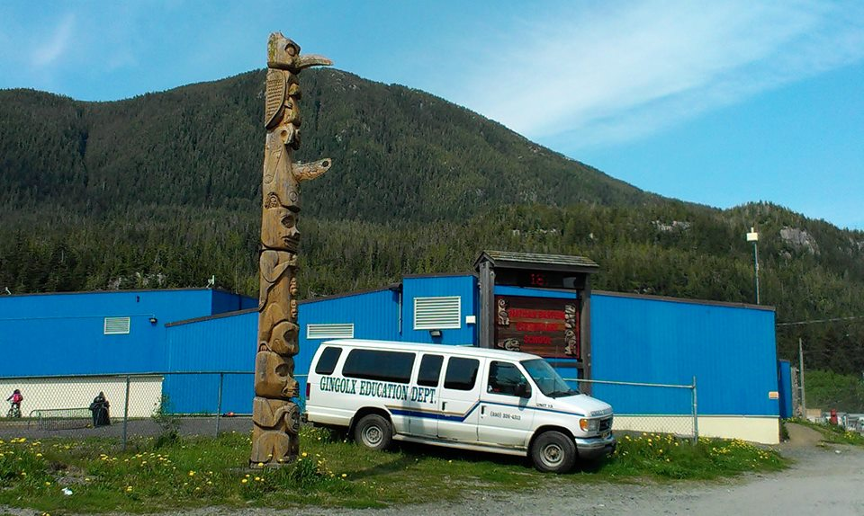 The school in Gingolx, at the western end of the Nisga'a lands