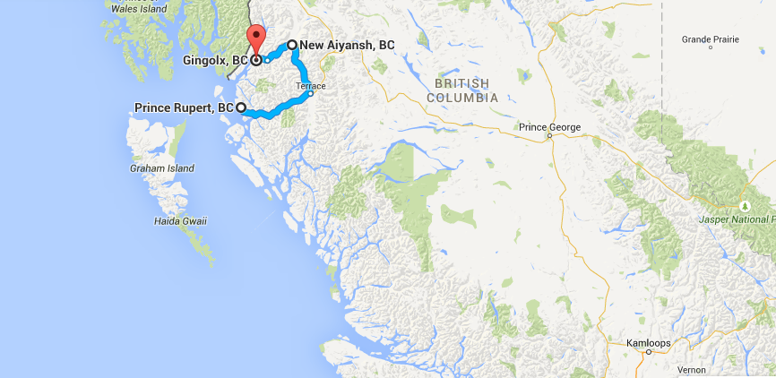 """""""The Nass""""  (Nisga'a Land) is at the top of coastal BC, very close to Alaska."""