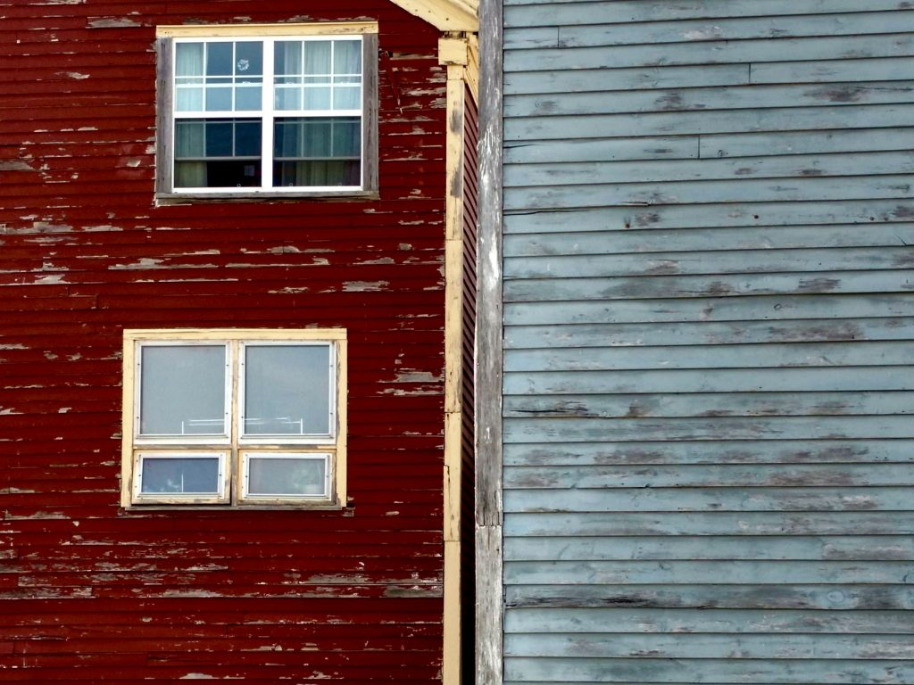 Digby, Nova Scotia: Weathered walls near the sea